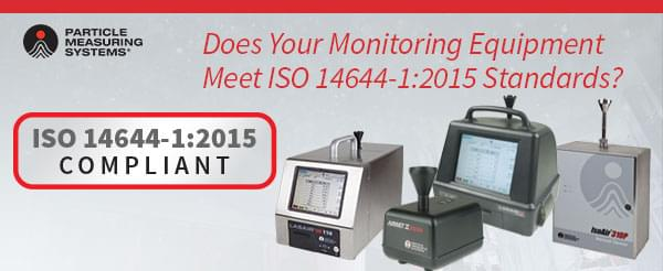 Are my particle counters ISO 14644-1 compliant?