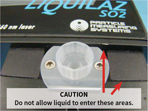 liquilaz particle counter from Particle Measuring Systems: cleaning method using syringes