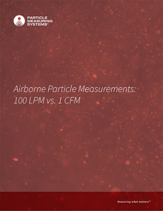 Airborne Particle Measurements: 100 LPM vs. 1 CFM
