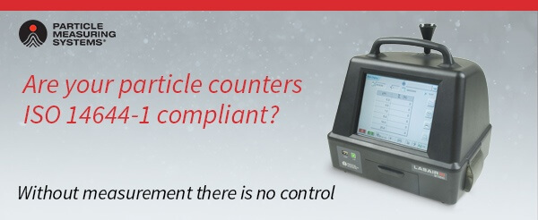 Are your particle counters ISO 14644-1 compliant?