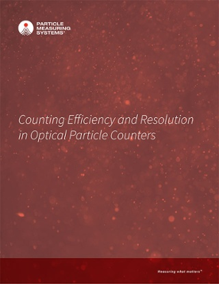 Counting Efficiency and Resolution in Optical Particle Counters