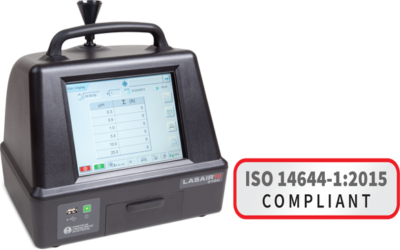 ISO 14644 compliant particle counter