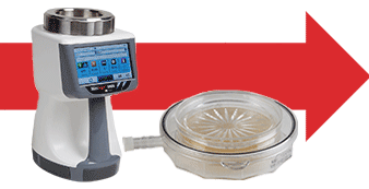 Microbial monitors for cleanroom contamination monitoring