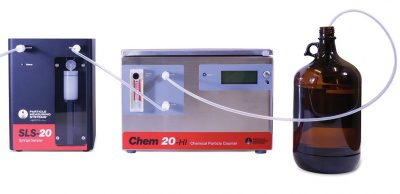 Chemical batch sampling particle counter system with Chem 20 and SLS 20 from Particle Measuring Systems PMS