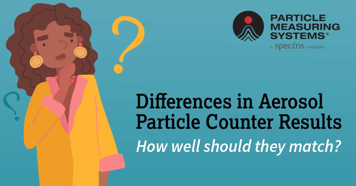 Airborne Particle counter results from Particle Measuring Systems PMS