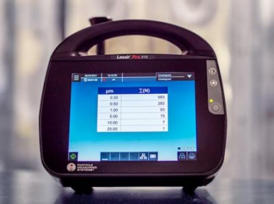 ISO 14644-1 compliant particle counter